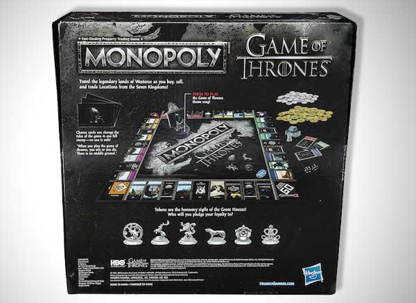 , Monopoly 'Game of Thrones', une Edition Chevaleresque