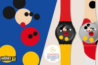 montre swatch edition limitee mickey mouse 90 anniversaire