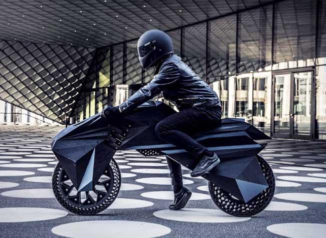 moto electrique imprimee 3d bigrep nowlab 1 - Imprimer en 3D une Moto sans Pneus c'est Possible (video)