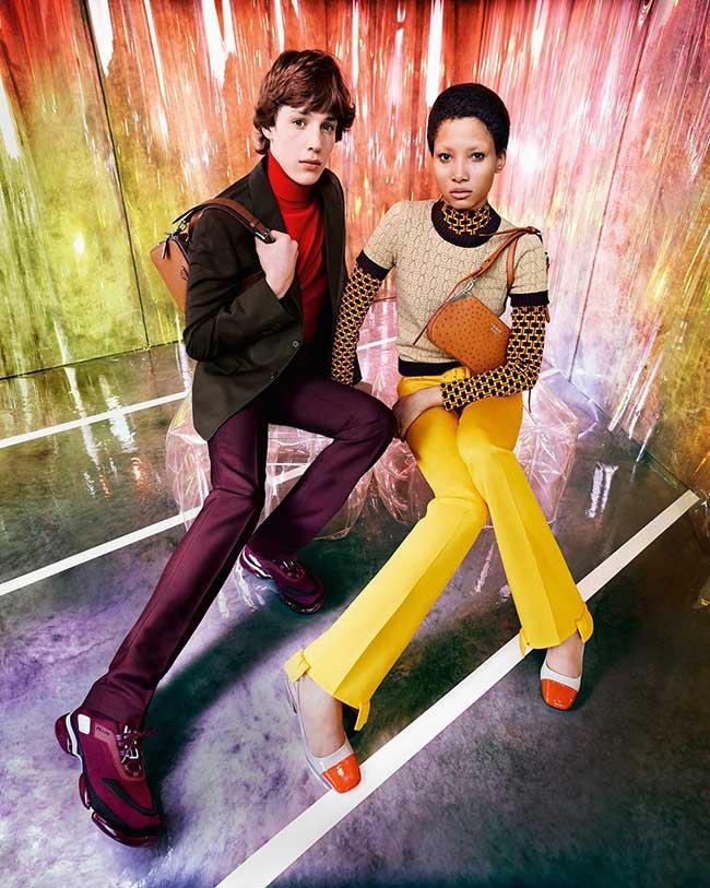 prada 365 resort 2019 campagne homme femme, Prada Resort en Mode Psychédélique et Retro