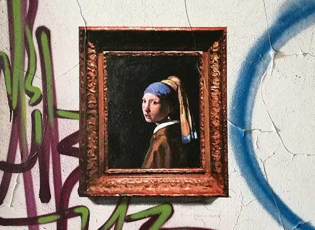 replique toile maitre street art julio anaya cabanding