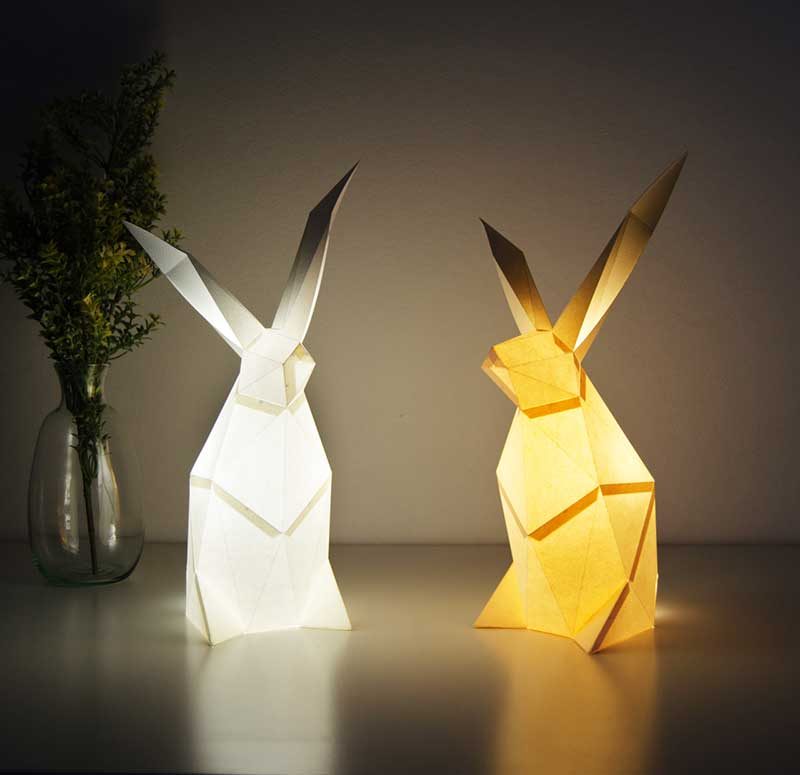 Animaux lampes, Lampes Animaux Géométriques à Réaliser Soi-Même