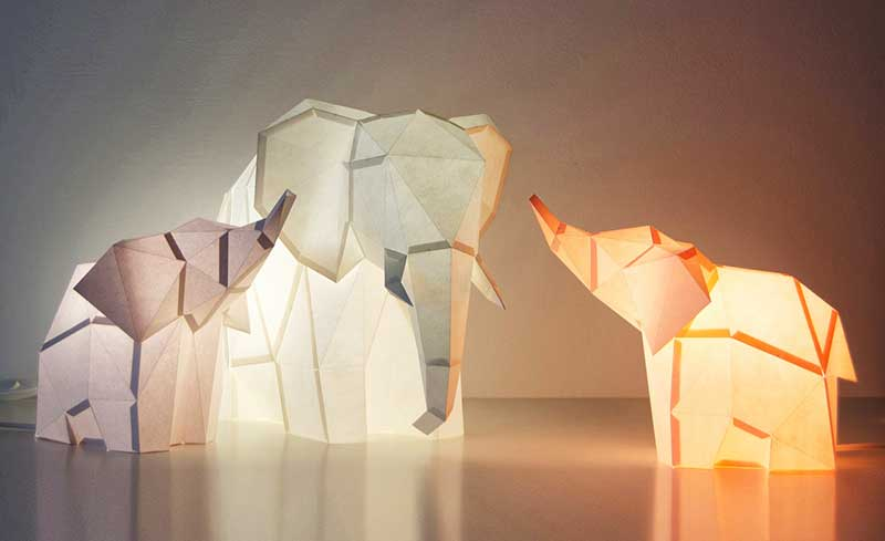 animaux lampes diy design 8 - Lampes Animaux Géométriques à Réaliser Soi-Même