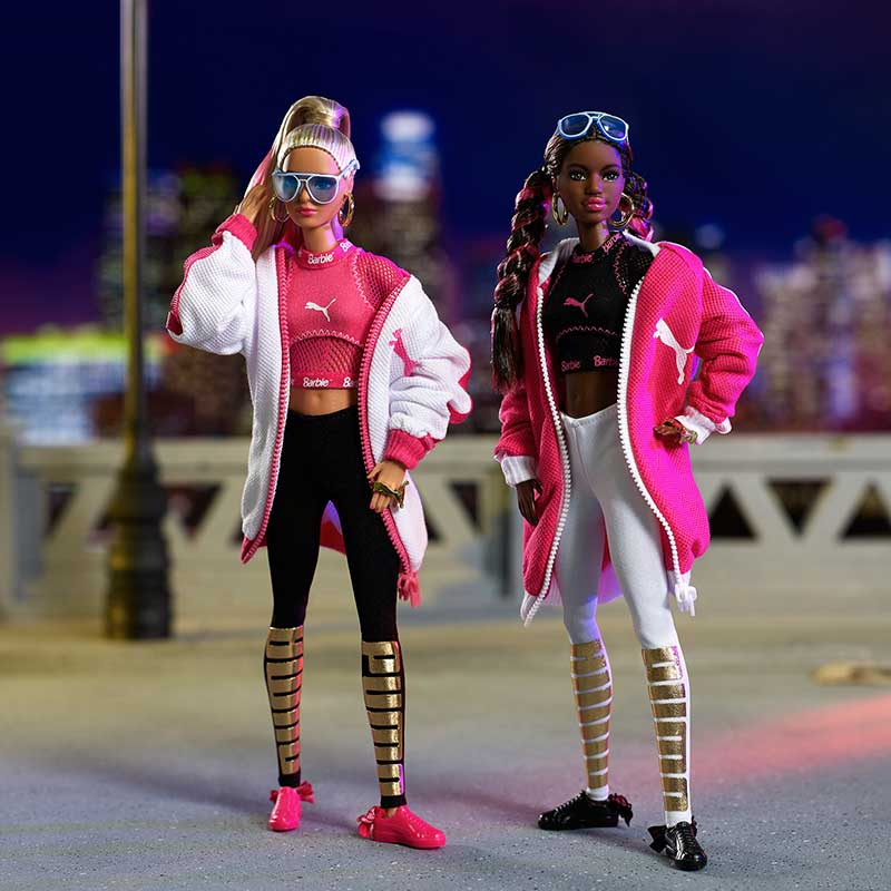baskets daim suede barbie rose noire prix 1 - La Poupée Barbie se Met au Sport avec PUMA (video)