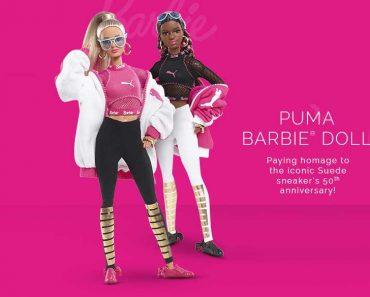 baskets daim suede barbie rose noire prix 3 370x297 - La Poupée Barbie se Met au Sport avec PUMA (video)