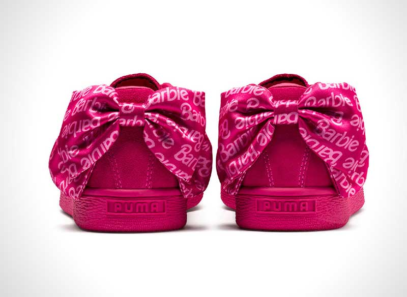 baskets daim suede barbie rose noire prix 7 - La Poupée Barbie se Met au Sport avec PUMA (video)