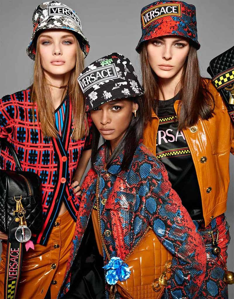 Versace femmes été 2019, Retro et Artistique sera la Femme Versace l'Ete Prochain