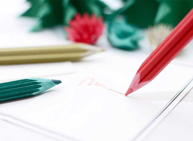Crayons couleur Noël copeaux, Crayons de Couleur de Noël aux Copeaux Festifs