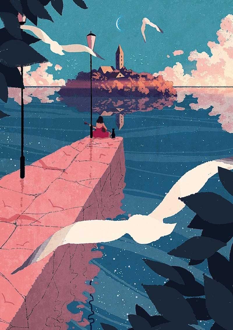 dessins digital art joze shimazaki 1 - Il Illustre la Vie Quotidienne Avec Féérie