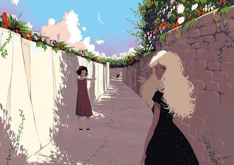 dessins digital art joze shimazaki 2 - Il Illustre la Vie Quotidienne Avec Féérie
