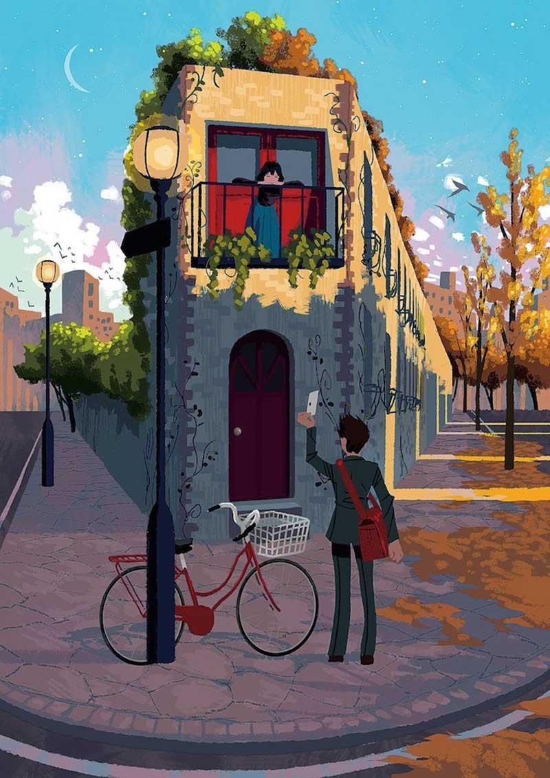 dessins digital art joze shimazaki 6 - Il Illustre la Vie Quotidienne Avec Féérie