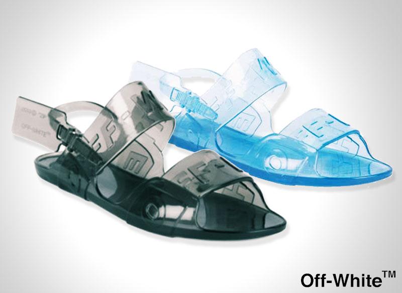 off white zip tie sandales plastique transparent 1 - Avec les Sandales Off-White l'Ete sera Chic et Transparent