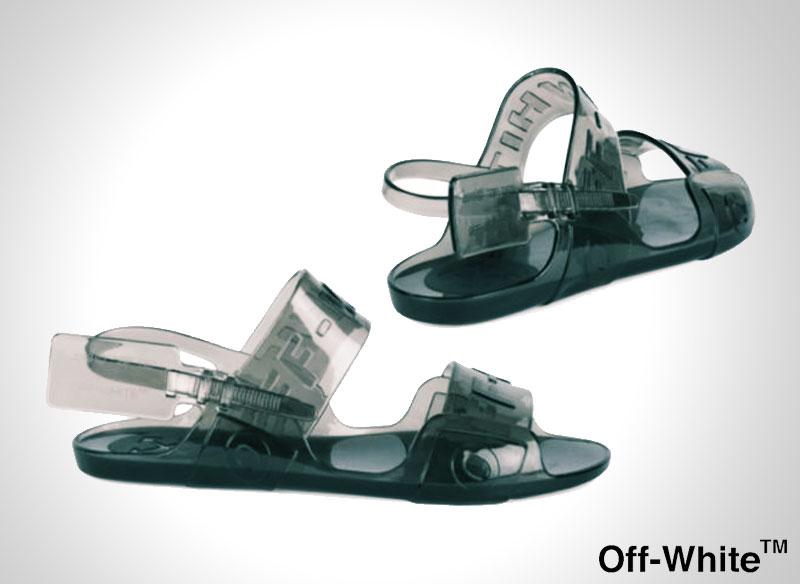 off white zip tie sandales plastique transparent 2 - Avec les Sandales Off-White l'Ete sera Chic et Transparent