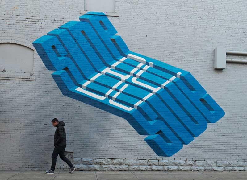 pref street art typographie 3d artiste calligraphie 1 - Street Art et Typographie, le Mariage Parfait en 3D