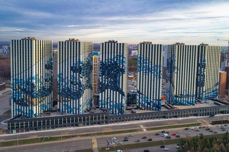 Vague Hokusai Moscou, La Vague d'Hokusai Déferle Sur 6 Tours Résidentielles à Moscou