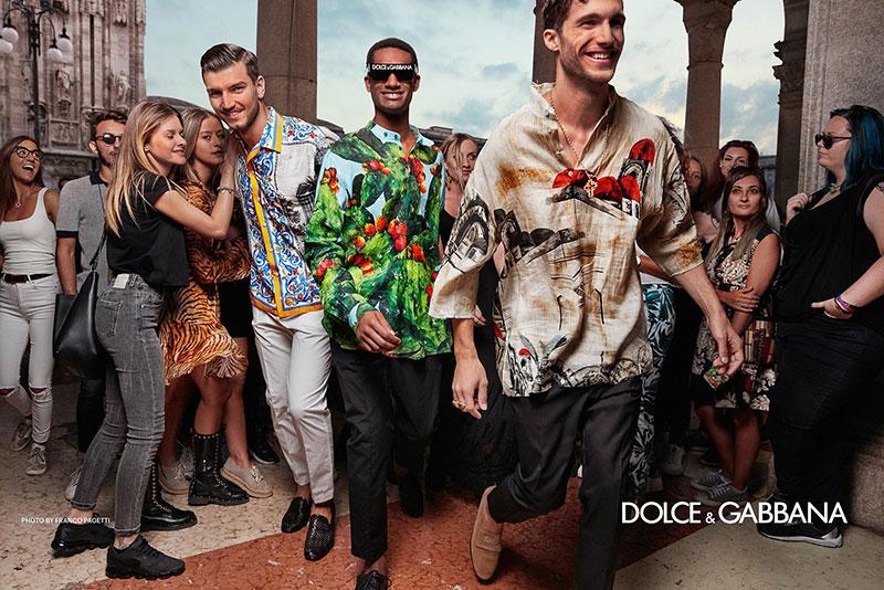 Dolce Gabbana homme été 2019, L'Homme Dolce Gabbana Descend dans la Rue pour Fêter l'Ete