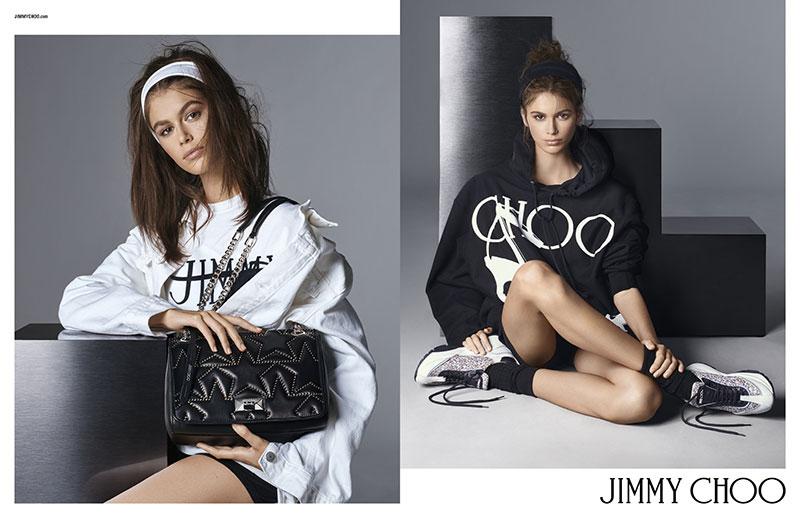 campagne jimmy choo baskets chaussures ete 2019 2 - Kaia Gerber, Egérie Jimmy Choo Chic et Sportive de l'Eté 2019