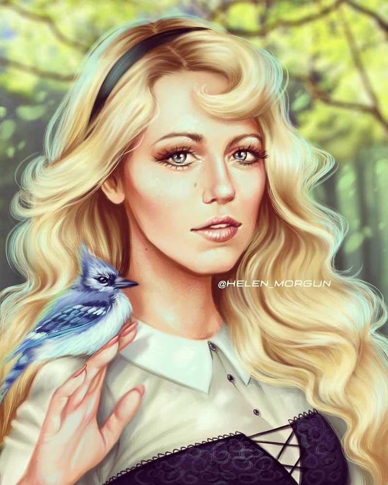 illustration célébrités princesses Disney, Cette Artiste Transforme les Célébrités en Princesses Disney