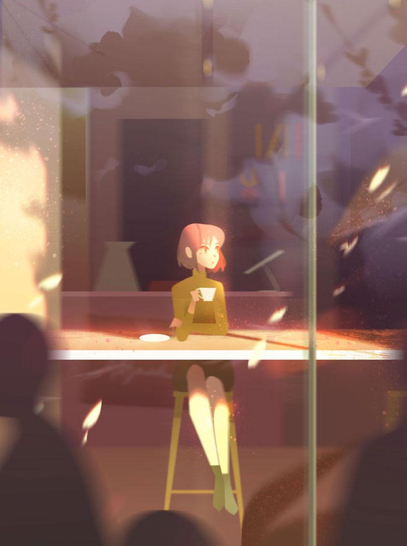 illustrations artiste jenny yu 11 - Cette Illustratrice Rappelle Combien les Moments de Solitude sont Appréciables