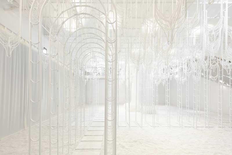 Eden installation art Pamela Tan, Eden, un Paradis Blanc en Installation d'Art Immersive