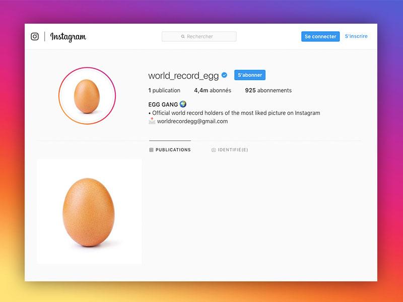 record photo instagram million jaime world record egg oeuf 2 - Cette Photo d'Oeuf a 50 Millions de 'J'aime' sur Instagram