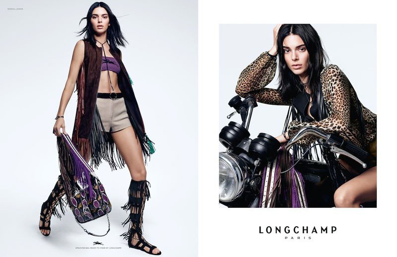 campagne longchamp printemps ete 2019 kendall jenner, Pour Longchamp cet Ete Kendall Jenner Joue les Amazones