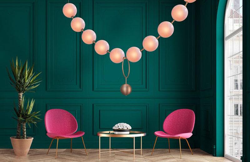 Coco luminaire collier perles Larose Guyon, Coco, un Elegant Luminaire aux Airs de Collier de Perles
