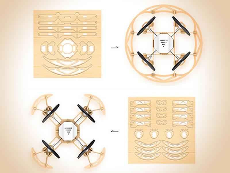 Aerowood Drone, Aerowood, le Drone en Bois à Monter de Toutes Pièces