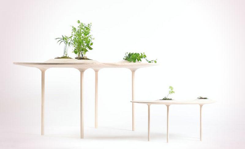 Wooyoo Tables Basses Plantes, Wooyoo, les Tables Basses en Bois pour Plantes
