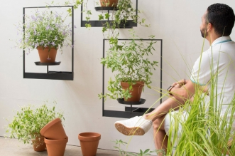 teepots pots suspendus plantes mauro canfori 1 331x219 - TEEpots Encadre et Suspend vos Plantes avec Style