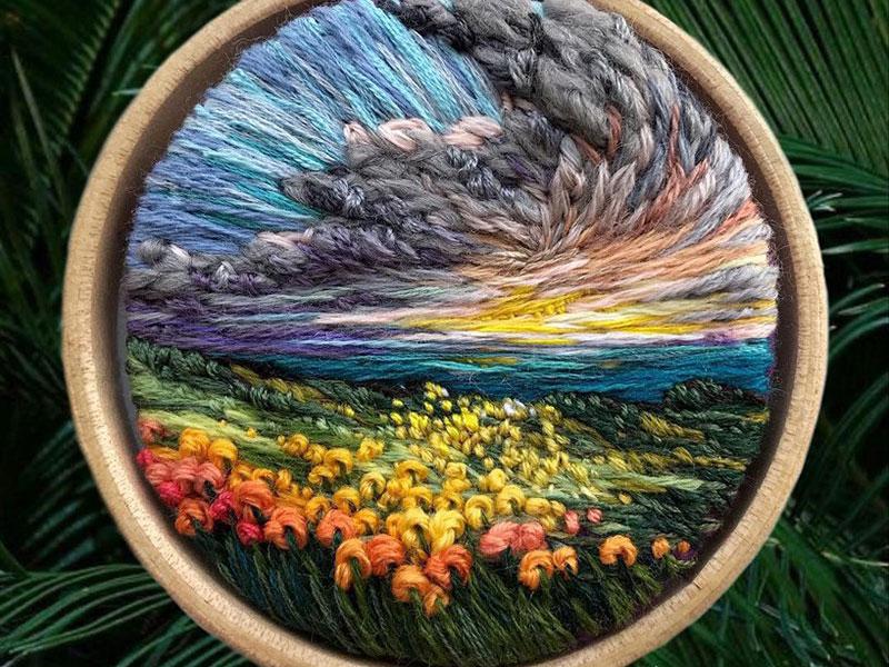 vera shimunia broderie 3d paysages 10 - Broderies de Paysages en 3D qui Sautent aux Yeux