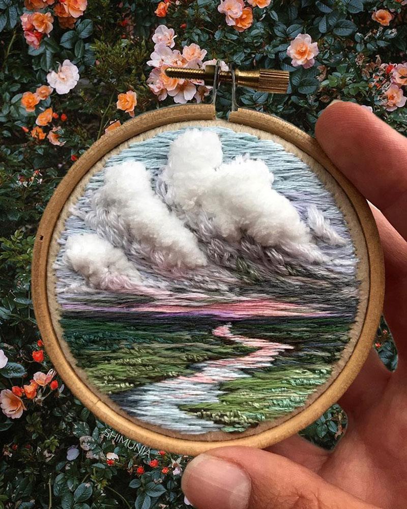 vera shimunia broderie 3d paysages 11 - Broderies de Paysages en 3D qui Sautent aux Yeux