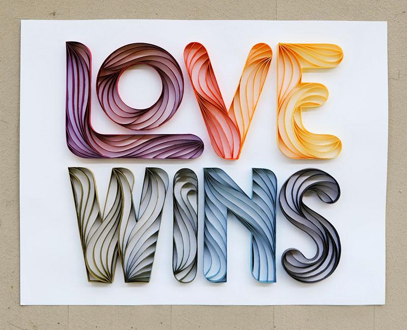 Mots papier Alia Bright, Sculptures de Mots en 3D par l'Artiste Papier Alia Bright