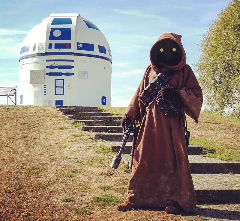 R2 D2 star wars observatoire, Un Observatoire Transformé en R2-D2 par des Fans de Star Wars