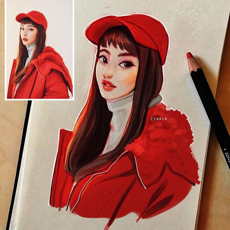 photo illustration laura brouwers 3 - Elle Dessine votre Photo Portrait en Adorable Personnage de BD