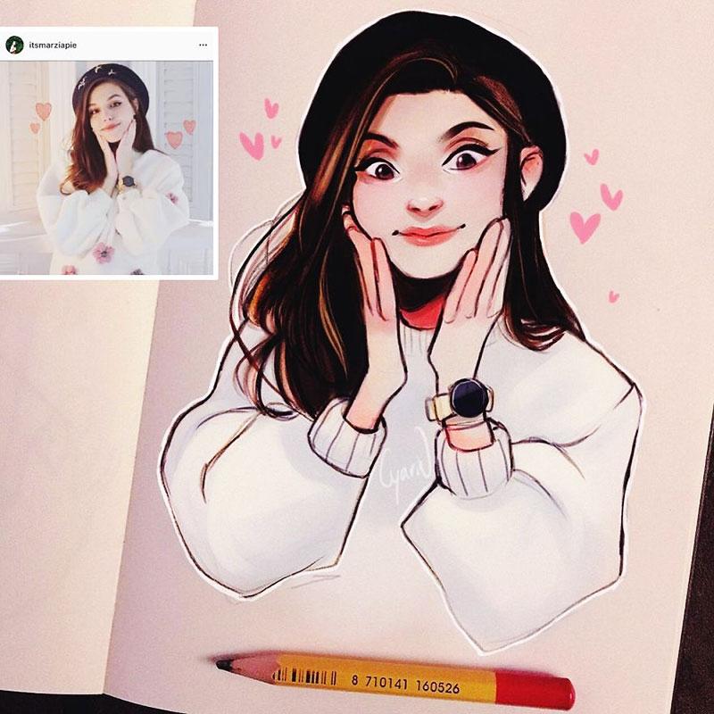 photo illustration laura brouwers 6 - Elle Dessine votre Photo Portrait en Adorable Personnage de BD