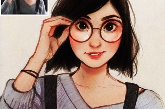 photo illustration laura brouwers 7 331x219 - Elle Dessine votre Photo Portrait en Adorable Personnage de BD