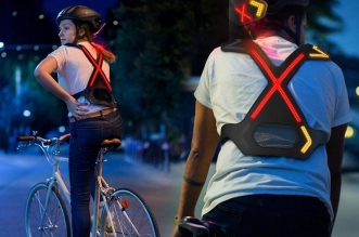 wayv harnais lumineux led casque velo cyclistes