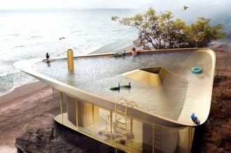 anti reality maison piscine toit 1 331x219 - Une Piscine sur le Toit pour cette Maison d'Eté