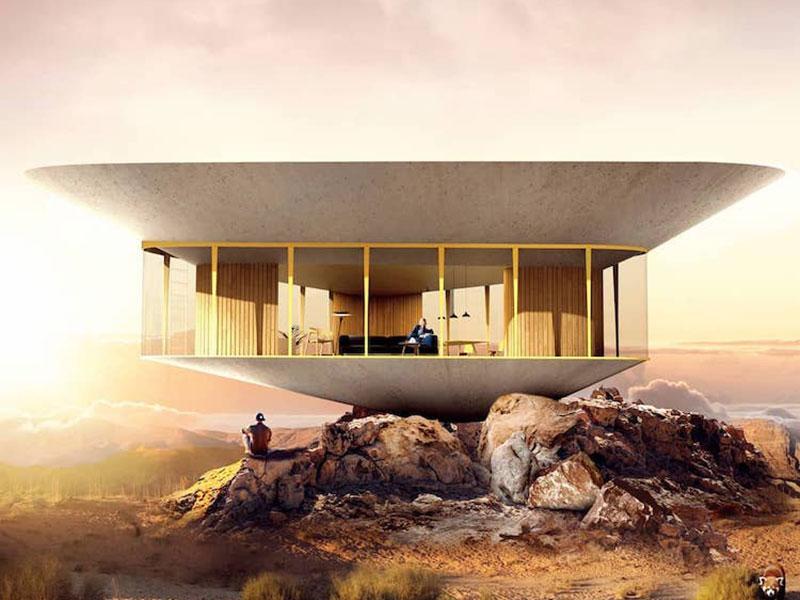 maison toit piscine, Une Piscine sur le Toit pour cette Maison d'Eté