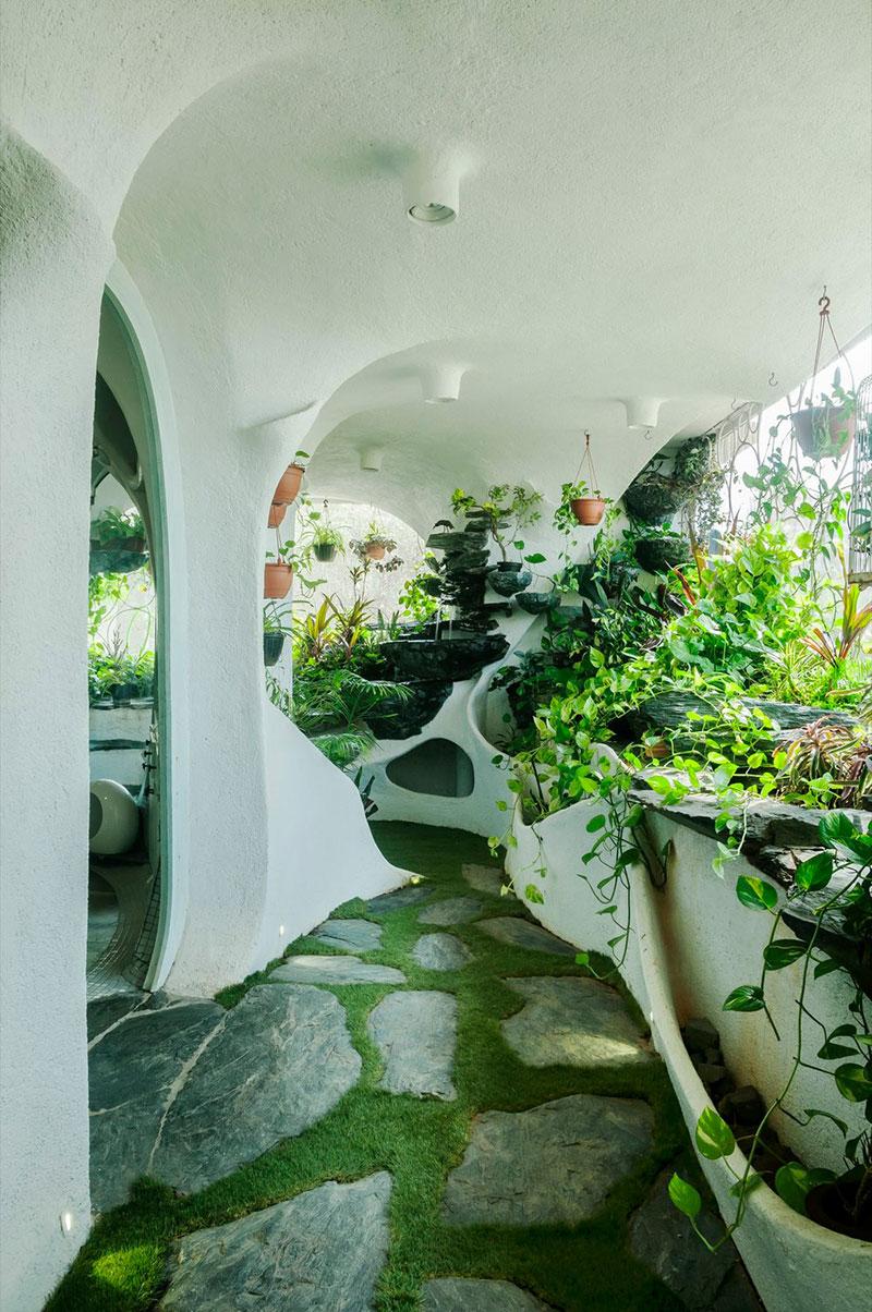 appartement architecture organique mumbai 6 - Architecture Organique pour cet Appartement Agencé de Verdure