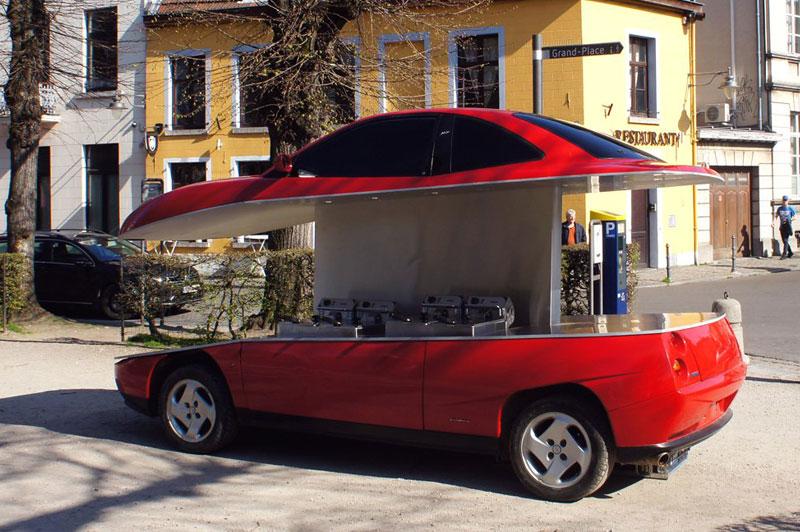 coupe fiat friterie ambulante benedetto bufalino 1 - Il Transforme un Coupé Fiat en Friterie Ambulante