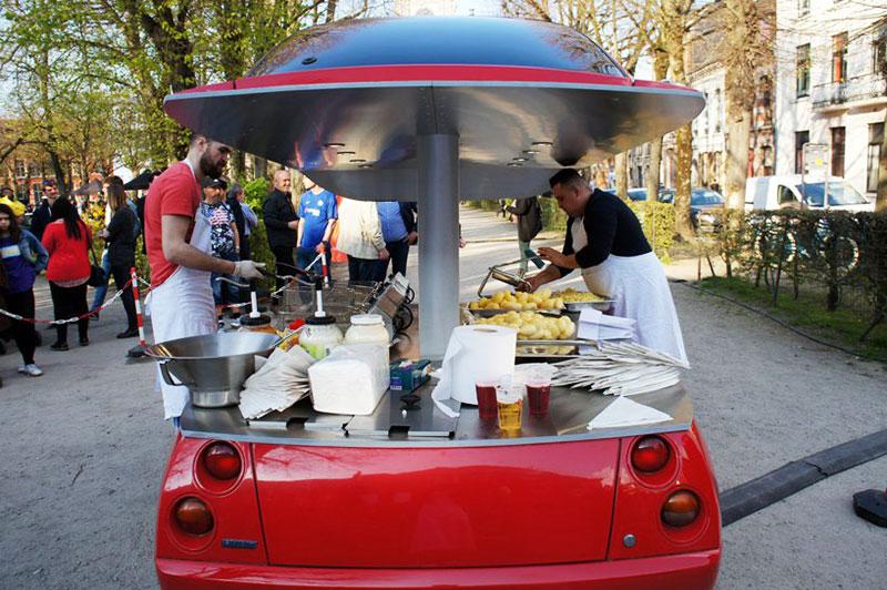 coupe fiat friterie ambulante benedetto bufalino 5 - Il Transforme un Coupé Fiat en Friterie Ambulante