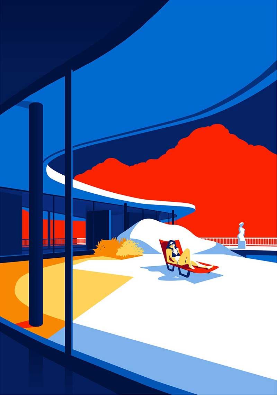 illustrations Oscar Niemeyer, Illustrations des Oeuvres de l'Architecte Oscar Niemeyer