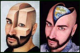 luca luce maquillage 3d illusion optique 2 331x219 - Les Maquillages 3D de cet Artiste sont Juste Hallucinants