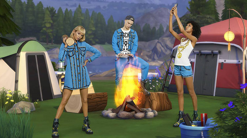 moschino jeu the sims collection capsule ete 2019 1 - Moschino Invite 'The Sims' dans sa Collection en Pixel Art