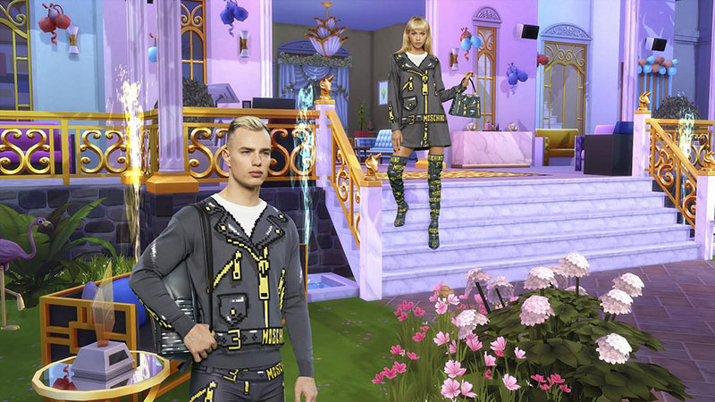 moschino jeu the sims collection capsule ete 2019 2 - Moschino Invite 'The Sims' dans sa Collection en Pixel Art