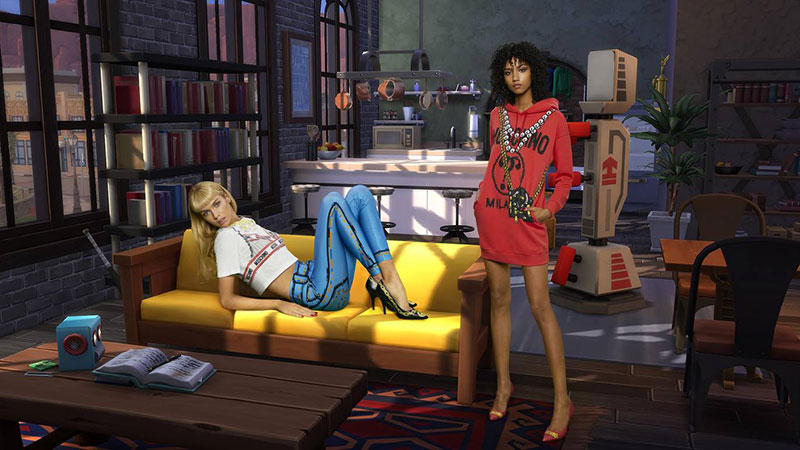 moschino jeu the sims collection capsule ete 2019 6 - Moschino Invite 'The Sims' dans sa Collection en Pixel Art