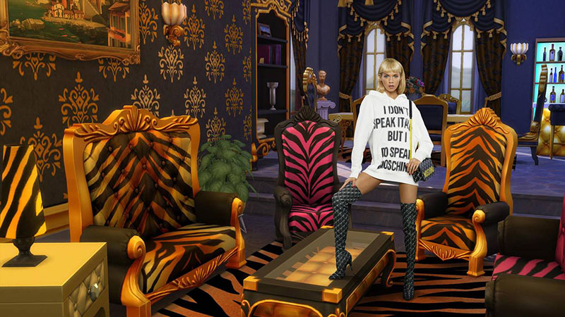 moschino jeu the sims collection capsule ete 2019 7 - Moschino Invite 'The Sims' dans sa Collection en Pixel Art
