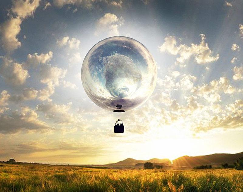 Ballon Dirigeable Miroir